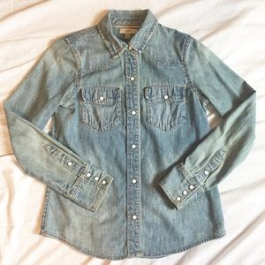 J. Crew Denim Shirt Size 0